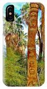 Totem Pole In Coachella Valley Preserve-california IPhone Case