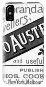 Tourism Australasia, 1889 IPhone Case