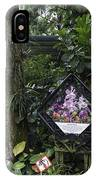 Tourist Doing Photography And Viewing Plants In A Garden IPhone Case