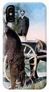 Tourist Feeding Bear Yellowstone Np IPhone Case