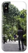 Tourists Inside A Downward Sloping Section In The Orchid Garden IPhone Case