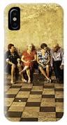 Tourists On Bench - Taormina - Sicily IPhone Case