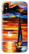 Towards The Sun - Palette Knife Oil Painting On Canvas By Leonid Afremov IPhone Case