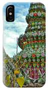 Tower Closeup Of Buddhist Temple At Grand Palace Of Thailand  IPhone Case