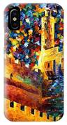 Tower - Palette Knife Oil Painting On Canvas By Leonid Afremov IPhone Case