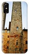 Towers Of San Gimignano IPhone Case