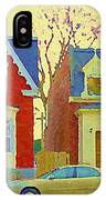 Town Houses In Winter Suburban Side Street South West Montreal City Scene Pointe St Charles Cspandau IPhone Case