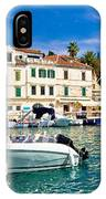 Town Of Hvar Waterfront View IPhone Case