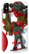 Toy Soldiers In A Pool Of Blood IPhone Case