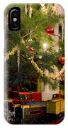 Toy Train Under The Christmas Tree IPhone Case