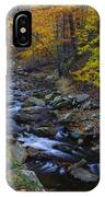 Tracking Color - Big Hunting Creek Catoctin Mountain Park Maryland Autumn Afternoon IPhone Case