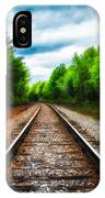 Tracks Through The Woods IPhone Case