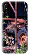 Tractor In Shed IPhone Case