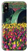 Tractor In The Tulip Field, Tulip IPhone Case