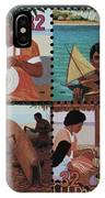 Traditional Pacific Handicrafts Postage Stamp Print IPhone Case