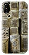 Traditional Souvenir Boxes In Market Of Cairo Egypt  IPhone Case
