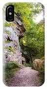 Trail Beside The Cliff Wildcat Den State Park IPhone Case