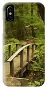Trail Bridge Toketee 1 IPhone Case