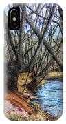 Trail By Fountain Creek Winter IPhone Case