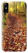Trail In Fall Forest IPhone Case