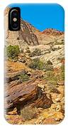 Trail Up To The Tanks From Capitol Gorge Pioneer Trail In Capitol Reef National Park-utah IPhone Case