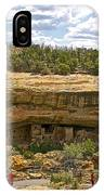 Trail View Of Spruce Tree House On Chapin Mesa In Mesa Verde National Park-colorado IPhone Case