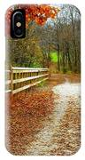 Trailing In Autumn IPhone Case