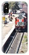 Train At Delhi Station IPhone Case