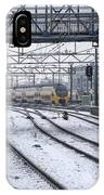Train Station Zwolle In Winter Netherlands IPhone Case