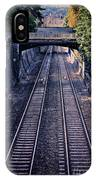 Train Tracks Into Town IPhone Case
