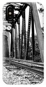 Train Trestle In B/w IPhone X Case