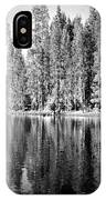 Tranquil Reflection In B And W IPhone Case
