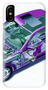 Transparent Car Concept Made In 3d Graphics 8 IPhone Case