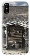 Trapper Dan's Log Cabins IPhone Case