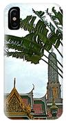 Traveler's Palm At Grand Palace Of Thailand In Bangkok IPhone Case