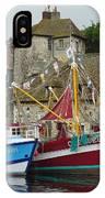Trawlers In Honfleur IPhone Case