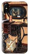 Treadle Sewing Machines IPhone Case