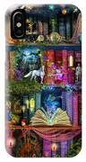 Fairytale Treasure Hunt Book Shelf IPhone Case