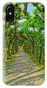 Tree Alley In Castle Park IPhone Case