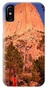 Tree At Devils Tower IPhone Case