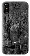 Tree House In Black And White IPhone Case