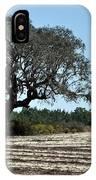 Tree In Plowed Field IPhone Case