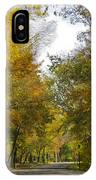 Tree Lined Park On A Fall Day IPhone Case