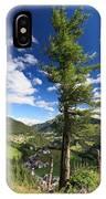 tree over Cordevole valley IPhone Case