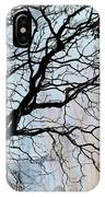 Tree Skeleton Layer Over Opaque Image IPhone Case