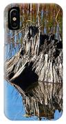 Tree Stump And Reeds IPhone Case