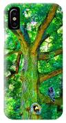 Tree With Owl Gnome And Mushroom IPhone Case