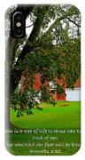 Tree With Scripture IPhone Case