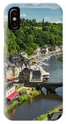 Treed Valley Riverside Town, Stone IPhone Case