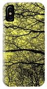 Trees Abstarct Yellow IPhone Case